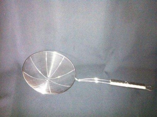 EX-L 18 cm/indien-Écumoire-Chinois Passoire Louche en acier inoxydable pour la friture, Pakora &Chips