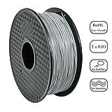 PRILINE PLA-1KG 1.75 3D Printer Filament, Dimensional Accuracy +/- 0.03 mm, 1kg Spool, 1.75 mm, Gray (Pantone Code:7444C)