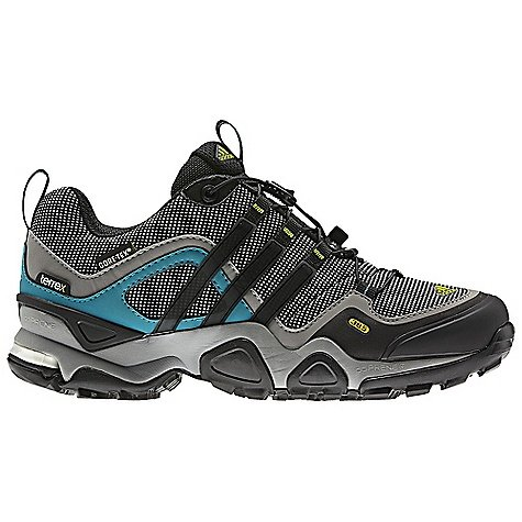 Adidas Women's Terrex Fast X Gore-Tex Hiking Shoes - Grey Rock/ Black/ Lab Green 8