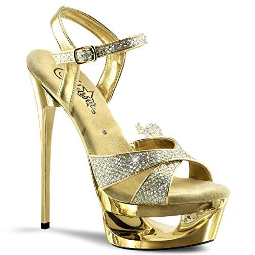 Pleaser Eclipse-619G - sexy scarpe sandali con i tacchi alti e plateau 35-42, US-Damen:EU-35 / US-5 / UK-2