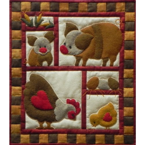 Rachel's Of Greenfield K0514 Ham and Eggs Quilt Kit, 13-Inch x 15-Inch (Quilts Sale compare prices)