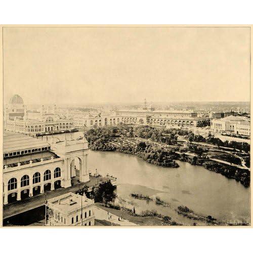 Amazon.com: 1893 Chicago World's Fair Wooded Island Panorama Print