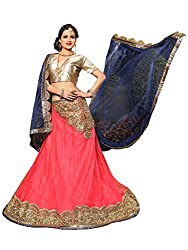 Silvermoon women's Net Embroidered heavy lehenga choli-sm_NMNZA326_Blue and Pink_free size