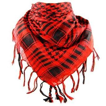 promotion foulard palestinien keffieh ch che pashmina rouge et noir. Black Bedroom Furniture Sets. Home Design Ideas