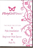 img - for flirty girl DVD fitness pole collection, pole installation, beginner pole dance and pole fit book / textbook / text book