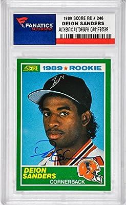 Deion Sanders Atlanta Falcons Autographed 1989 Score #246 Rookie Card - Fanatics Authentic Certified