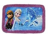 Disney's Frozen Anna and Elsa Frozen Heart Purple Border Area Rug