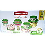Rubbermaid Limited Edition Green Color Easy Find Lids, 34-piece Set, with Bonus 4 Pieces, Hard to Find Set