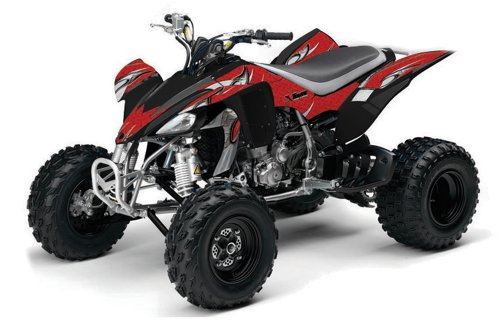 AMR Racing 2004-2008 Yamaha YFZ 450 ATV Quad, Graphic Kit - Tribal Flames: Re...