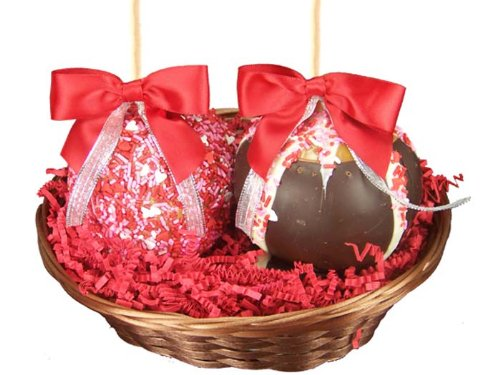 Two Apple Valentine Gourmet Gift Basket