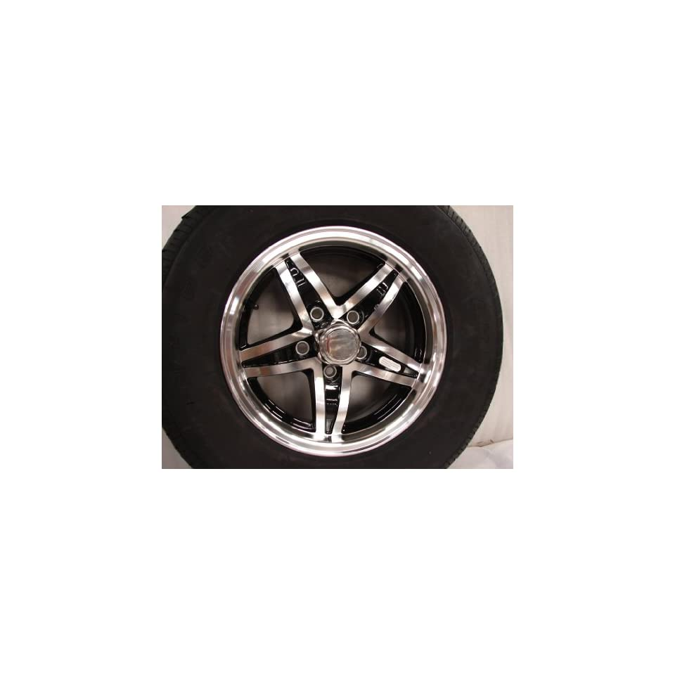14 Aluminum Trailer Wheel Rim 5 Lug Radial Tire
