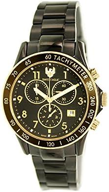 buy Swiss Eagle Men'S Se-9025-55 Black Stainless-Steel Swiss Quartz Watch