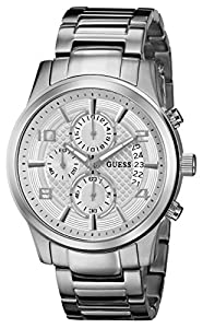 GUESS Men's U0075G3 Masculine Stainless Steel Retro Chronograph Watch
