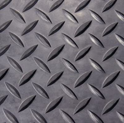 Rifrano Waterproof Diamond Plate Rubber Flooring Rolls PVC Meterial for Car