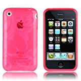 "ORIGINAL iProtect APPLE Iphone 3 3GS FLORAL Silikon H�lle Case Tasche PINK Blumen H�llevon ""iprotect"""