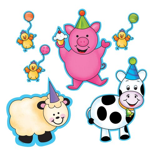Creative Converting Barnyard Bash Cutout Decoration, 6 Count