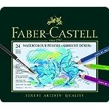 Faber-Castell 117524 Crayons de couleur Albrecht Dürer boîte métal de 24