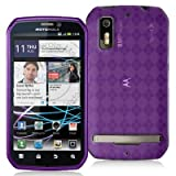 High Gloss Argyle Purple Flexible TPU Cover Skin Phone Case for Motorola Ph ....