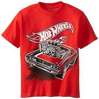 Hot Wheels Little Boys' Tee, Red, 5/6