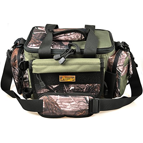 Piscifun fishing tackle bag soft sided gear bag storage for Ap fishing backpack