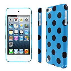 Slim Fit Teal and Brown Polka Dot Case for Apple iPod Touch 5th Gen