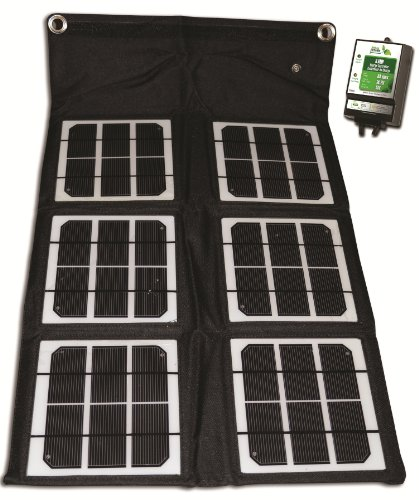 18-Watt Folding Monocrystalline Solar Panel with 8-Amp Charge Controller (Nature Power Folding Solar Panel compare prices)
