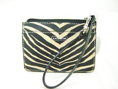 Coach Zebra Print ID Skinny Wallet F50514