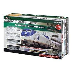 Kato USA Model Train Products N Amtrak P42 Superliner Phase IVb Starter Set