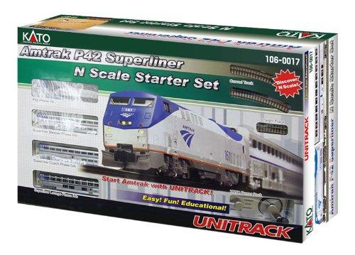 Kato USA Model Train Products N Amtrak P42 Superliner Phase IVb Starter Set (Amtrak Train Model compare prices)