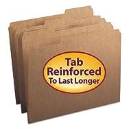 Kraft File Folders, 1/3 Cut, Reinforced Top Tab, Letter, Kraft, 100/Box