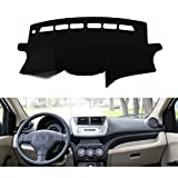 FLY5D®DashMat Car Carpet Dashboard Sun Cover Pad Dash Mat for SUZUKI New ALTO 2009-2013 (SUZUKI New ALTO , Black)