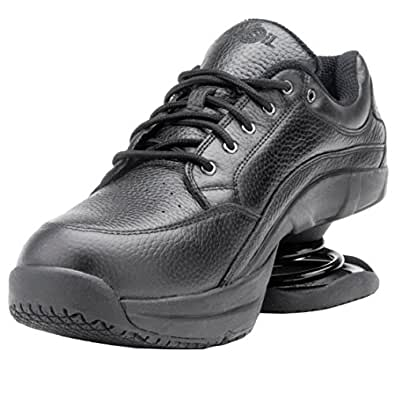 z coil s legend slip resistant black leather tennis