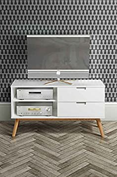 MY-Furniture – Mueble de TV retro de roble macizo de estilo escandinavo – Gama Tretton
