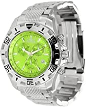 Invicta Specialty Chronograph Green Dial Stainless Steel Mens Watch 80162