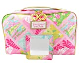1 New Lilly Pulitzer Cosmetic Bag in Lilly Patch + Matching Mirror Estee Lauder
