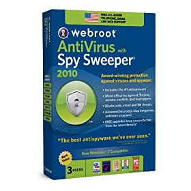 Webroot Antivirus with Spy Sweeper 3-User