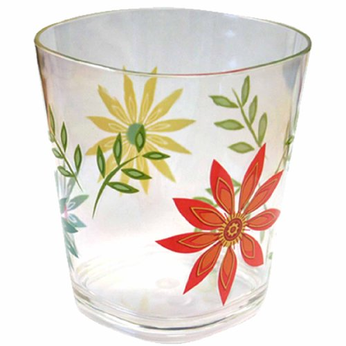 Corelle Coordinates Happy Days 14-Ounce Acrylic Square Glasses, Set of 6