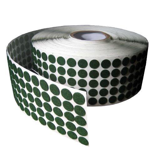 Green Adhesive Kiss Cut Felt Button Rolls - Medium Duty 1/16
