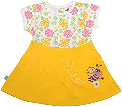 Absorba Baby Girls' Dress ( Yellow_6-12 Months ,60001)