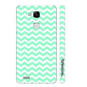Huawei Ascend Mate 7 CHEVRON MINT designer mobile hard shell case by Enthopia
