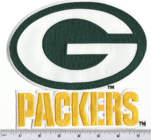 "Large Green Bay Packers 7"" wide x 6' high Jacket Patch (iron or sew on) at Amazon.com"