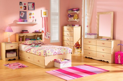 Cheap Kids Bedroom Furniture Set in Romantic Pine – South Shore Furniture – 3272-BSET-1 (3272-BSET-1)