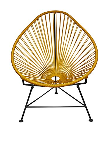 Innit Designs Acapulco Chair, Gold/Black