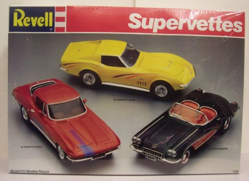 Revell 7484 Supervettes Three Corvette Kit Package
