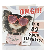 OMG Dog Kids Birthday Card