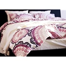 Ikea Lyckoax   Duvet Cover and 2 Pillowcases Set White Lilac   Full/queen