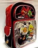 "Rovio Angry Birds 16"" Black & Red Backpack For Kids"
