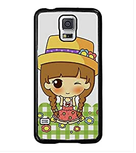 Fuson Premium 2D Back Case Cover Cute baby With Black Background Degined For Samsung Galaxy S5 Mini::Samsung Galaxy S5 Mini G800F