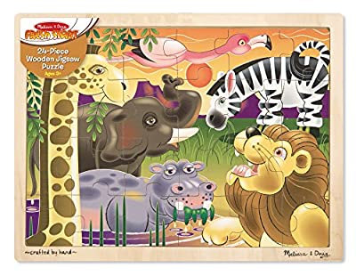 Melissa & Doug African Plains Safari Wooden Jigsaw Puzzle from Melissa & Doug