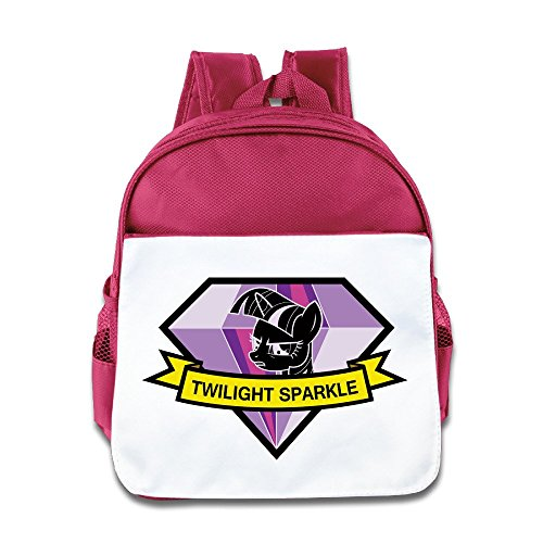 Jade Custom Personalized Twilight Cute Cartoon Role Sparkle Boys And Girls School Bag Backpack For 1-6 Years Old Pink